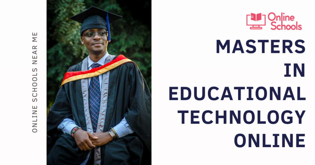 Masters in Educational technology online