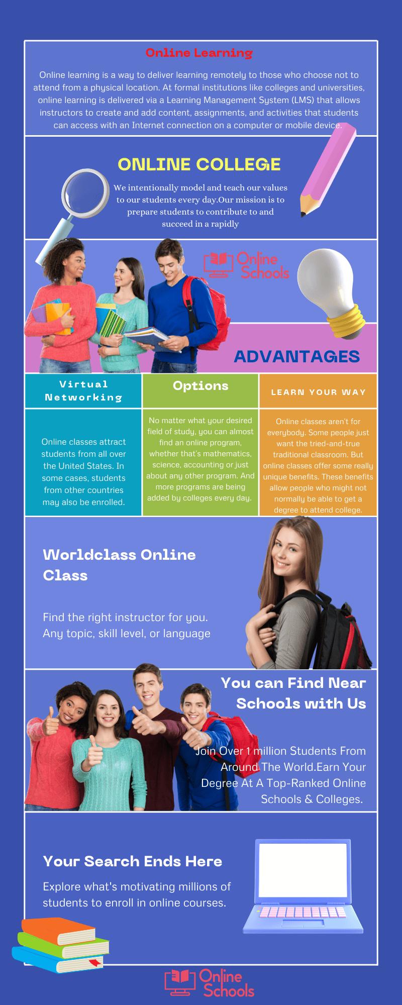 advantages of online college