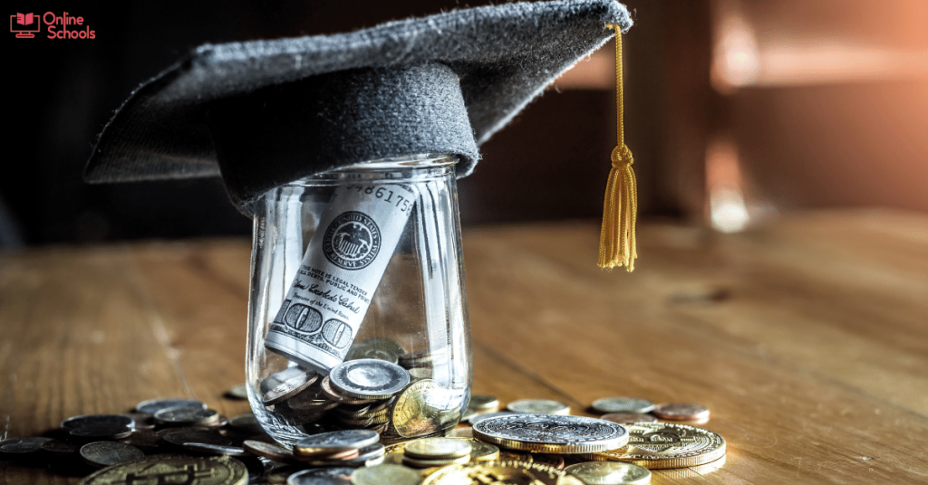How much does it cost for online college