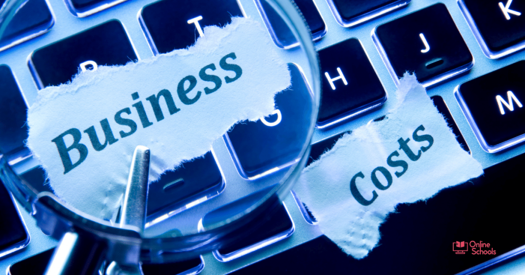 Business degree online cost